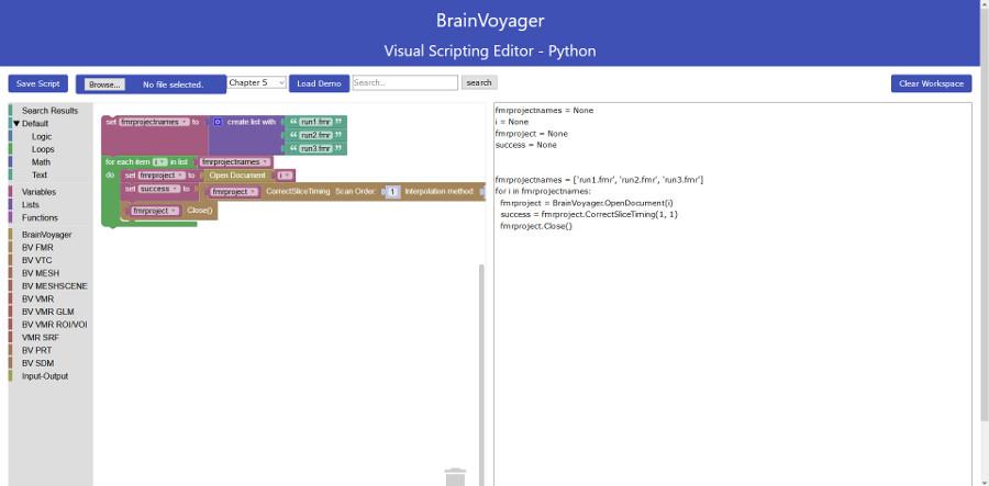 Visual scripting editor - web version