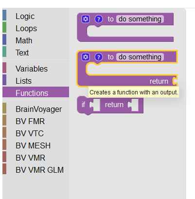 Select a function block