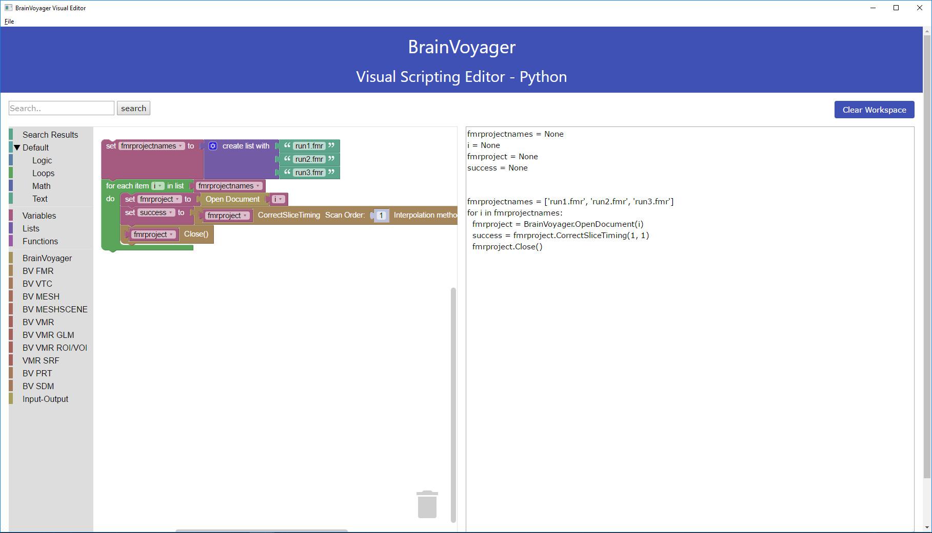Visual graphic editor plugin version